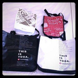 Bundle of 4 Lululemon Tote Bags